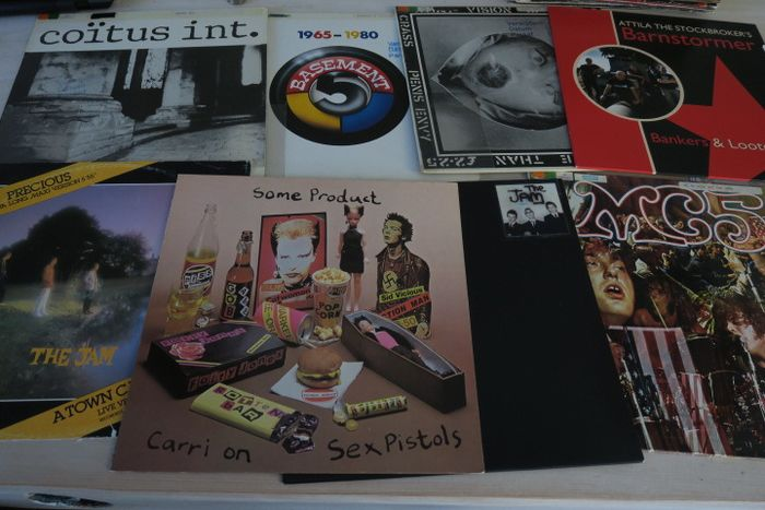 Jam, Sex Pistols - Nice Lot with 8 Punk and Post Punk Records - LP's - 1971/1981
