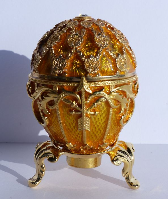 Fabergé Impérial - Oeuf Collector - Email - Strass Swarovski - Finition plaqué Or 24k