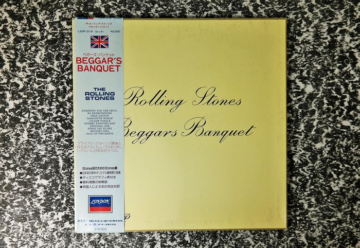 Rolling Stones - Beggars Banquet  / From London with all inserts and OBI - LP album - 1981/1981