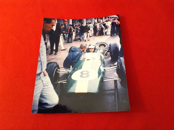 rare lot photographique - Lotus - Jim Clark & Colin Chapman Lotus 25 Lotus 72 F.1 1962/1963/1970  - 1962-1970