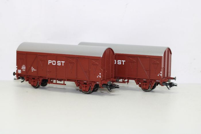 Märklin H0 - 46271 - Goederenwagenset -  Set van 2 postwagens type Gs - NS