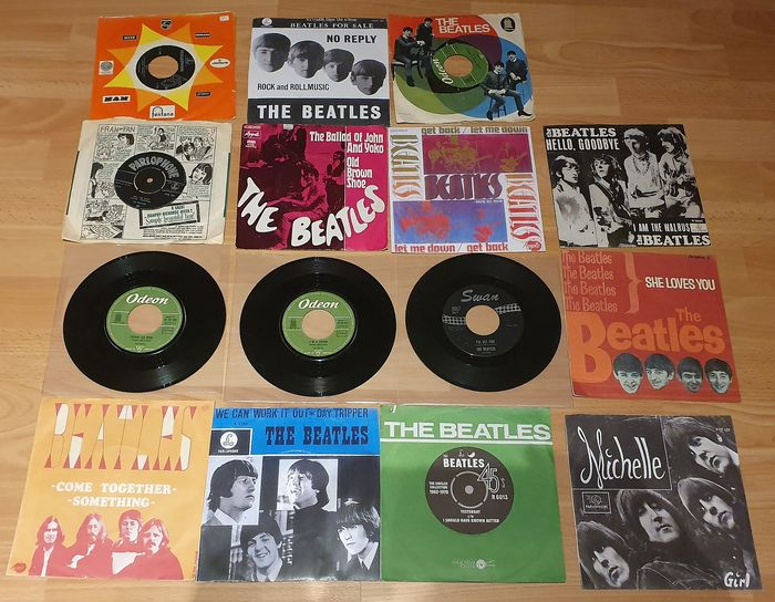 Beatles - 15 x 7'' vinyl singles of The Beatles. Collection! - Multiple titles - 45 rpm Single - 1964/1976