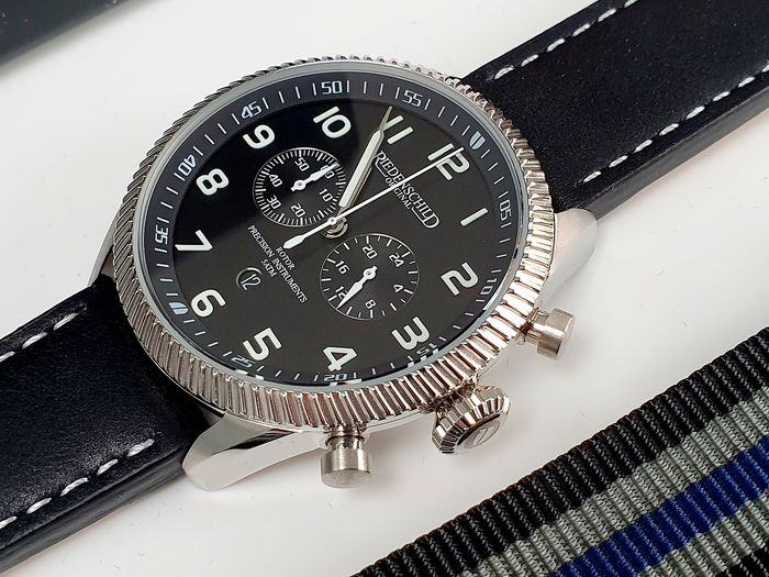 RIEDENSCHILD - Classic Army militarty Cgronograph watch + free omega style strap - Herren - 2019