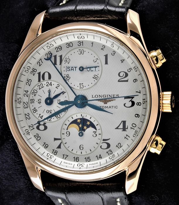 Longines - Master Collection - Solid 18K Gold - Automatic Swiss Chronograph - Ref. No. L2.673.8. - Excellent Condition - Full Set - Warranty - Hombre - 2011 - actualidad