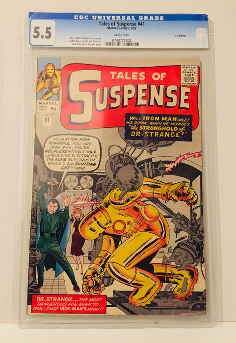 Tales of Suspense #41 - Previously Graded CGC 5.5 - 3rd appearance of Iron Man - Broché - EO - (1963)