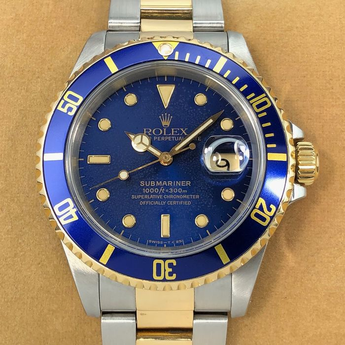 Rolex - Submariner Date Blue Dial - 16613 - Homme - 1990-1999