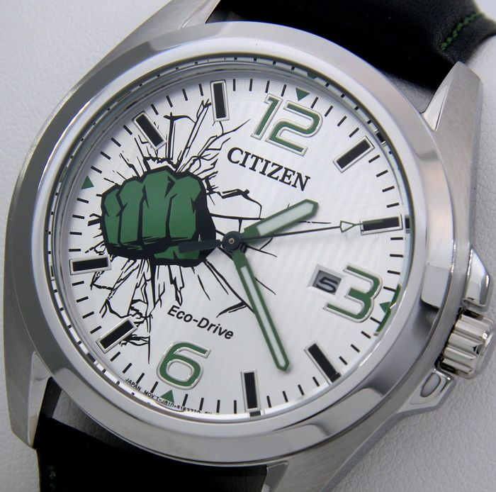 "Citizen - Eco Drive - Special Edition ""Marvel - THE HULK"" - ""NO RESERVE PRICE"" - AW1431-24W - Homem - 2019"