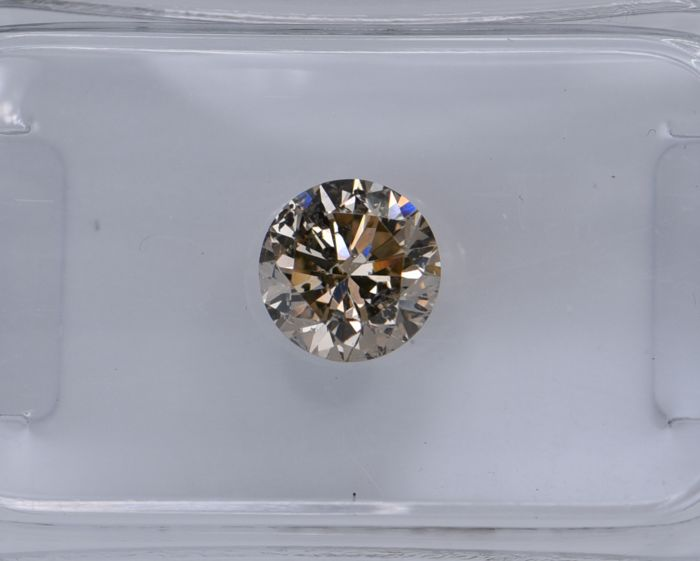 1 pcs Diamant - 0.80 ct - Rond - fancy intens brown - SI3, No Reserve Price!