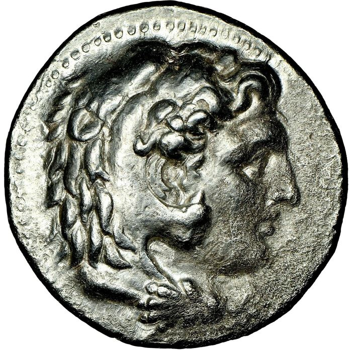 Grecia (antica) - Macedon. AR Tetradrachm, Alexander III the Great (336-323 BC) Early posthumous issue of 'Babylon', Struck 323-317 BC - Argento