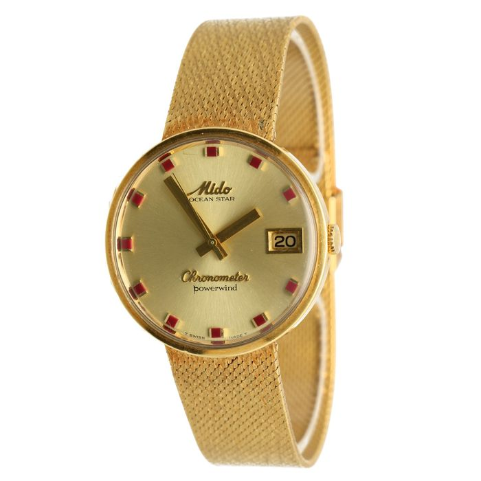 Mido - Ocean Star Chronometer Powerwind 18k - 5067 - Homme - 1960-1969