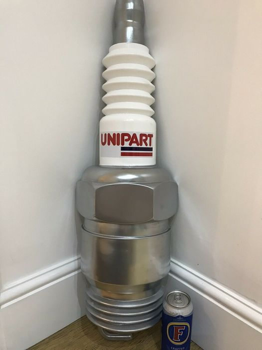Signalisation - Original Large Unipart Spark plug Wall Sign Garage Display Automobilia Advertising - Unipart