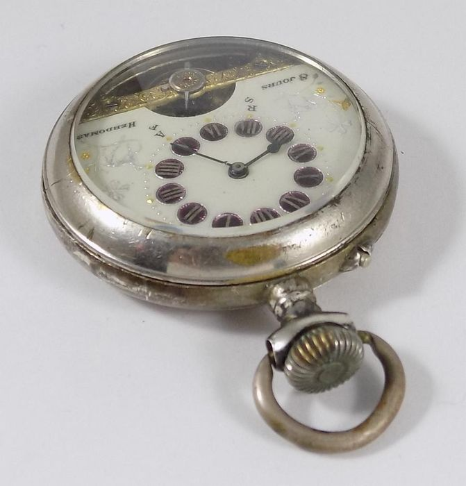 Hebdomas - 8 Jours - Eight Days- pocket watch NO RESERVE PRICE- Hombre - 1900