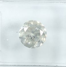 Diamond - 1.59 ct - Briliant - light Yellowish Gray - I1 - NO RESERVE PRICE - VG/VG/VG