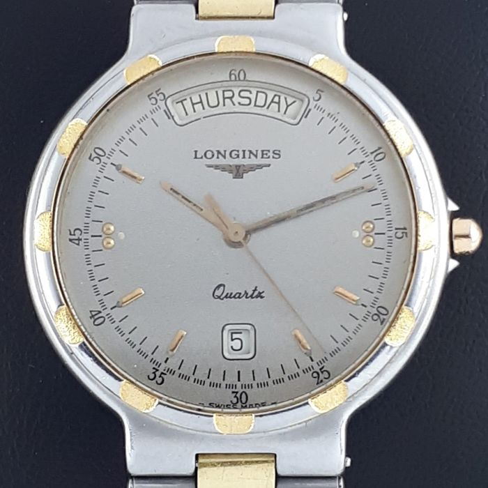 Longines - Conquest Day Date Gold-Plated - 4976 2 174 - Homem - 1990-1999