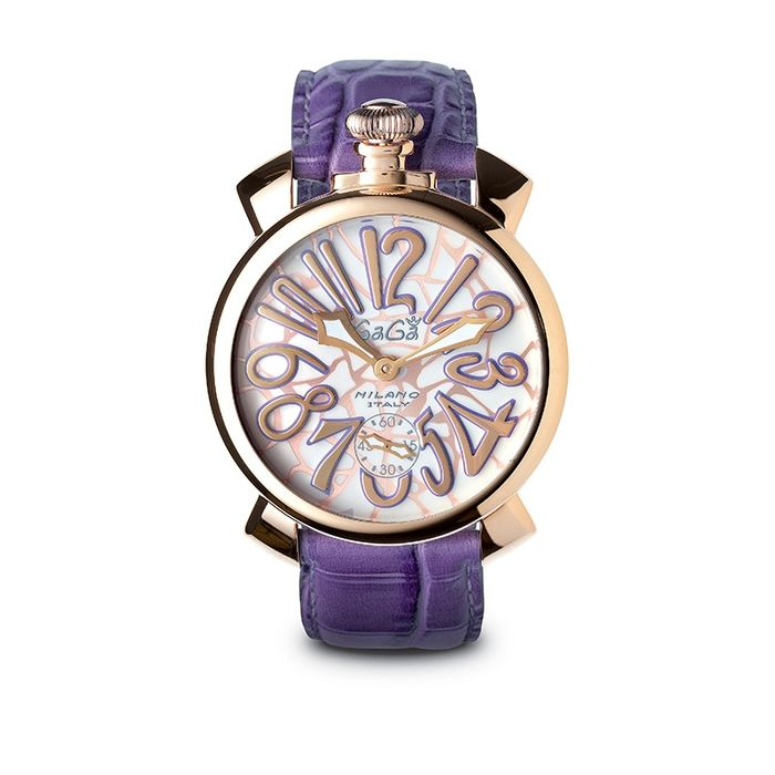 GaGà Milano - Manuale 48MM Mosaico Rose Gold Purple - 5011.MOS.01S - Unisex - Brand New