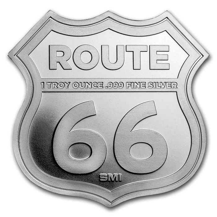 1 troz (31.1 gramas) - Prata - USA Icons of Route 66 - Kansas Rainbow Bridge in Kapsel - Seal