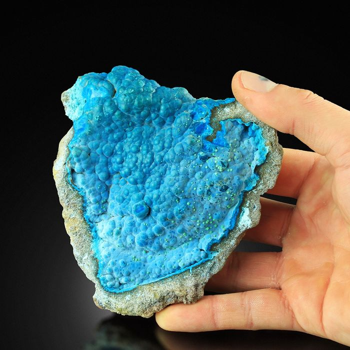 Fantastic Chrysocolla on Malachite Brain Specimen - 11×11×3.5 cm - 200 g