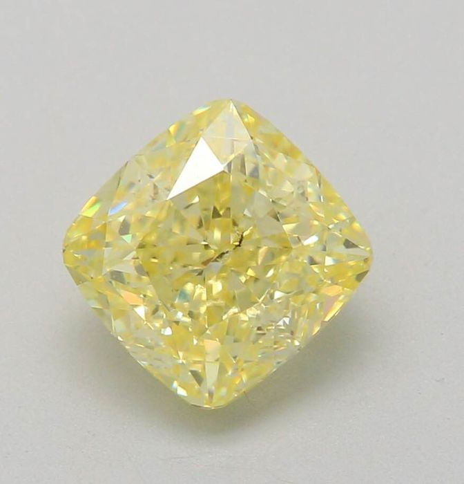 1 pcs Diamant - 1.20 ct - Coussin - fancy yellow - SI2