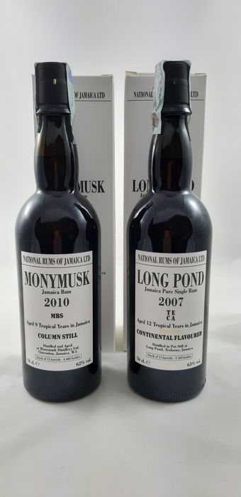 Long Pond, Monymusk Velier - 2007 TECA, 2010 MBS - b. 2019 - 70cl - 2 bottles