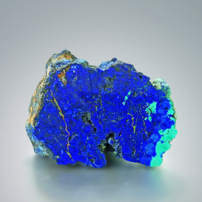 Polished AZURITE with MALACHITE  Crystal on matrix - 7×5.1×3.5 cm - 172.5 g