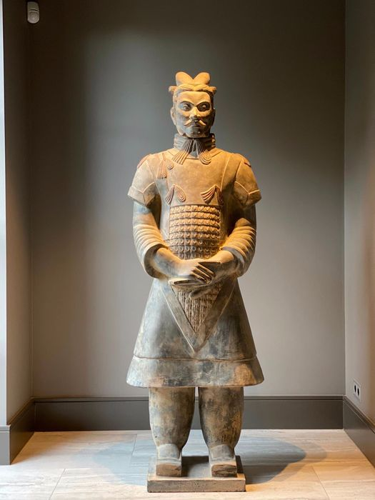Statue (1) - Poterie, Terre cuite - Terracotta Army - Chine - XXie siècle