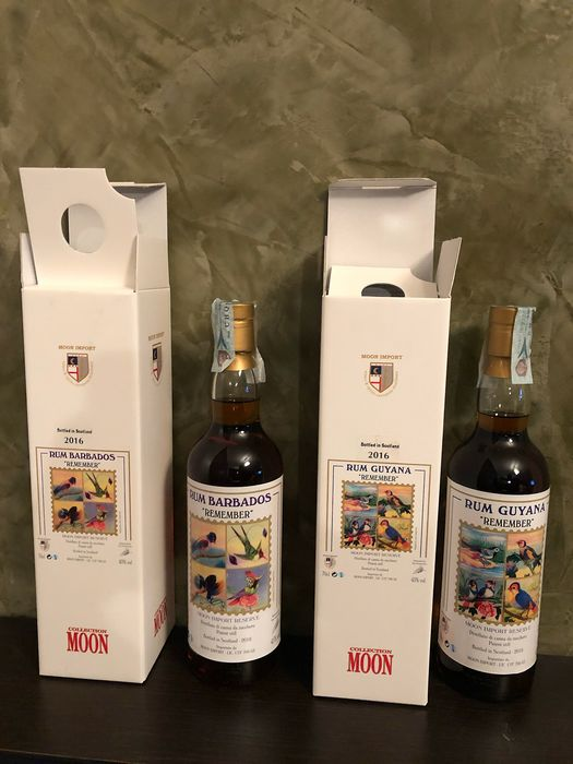 Remember Moon Import - Barbados 2016 / Guyana 2016 - 70cl - 2 bouteilles