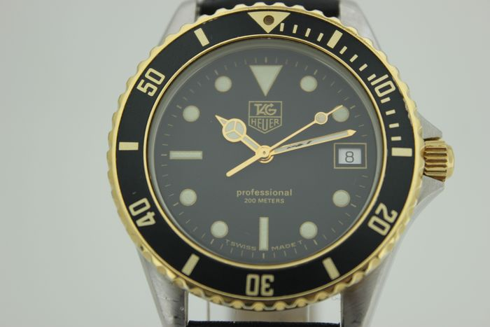 TAG Heuer - NO RESERVE PRICE  Professional 200 Meters Two Tone Diver - 980-020D - Unisex - 1990-1999