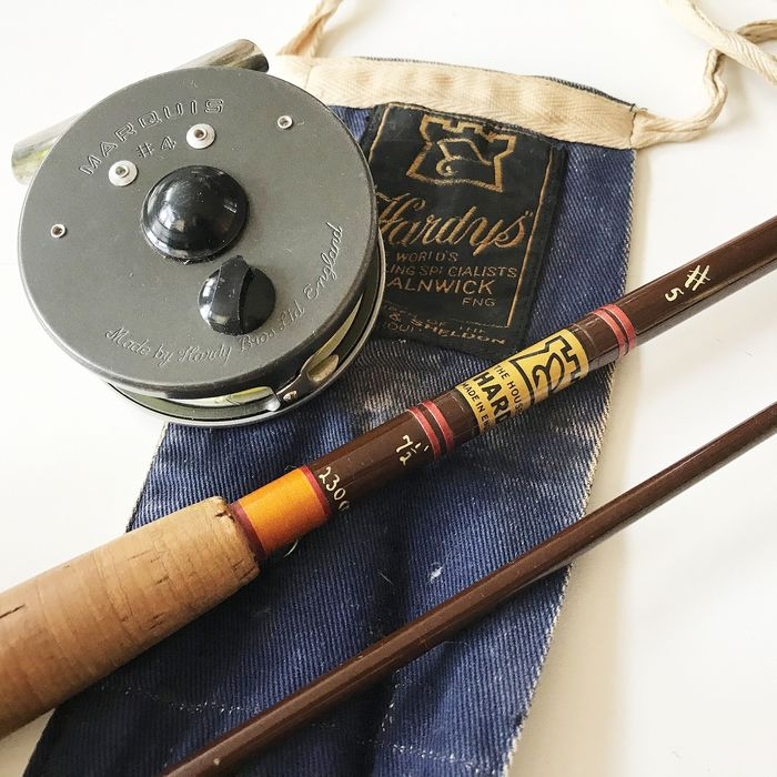 House of Hardy # 5 fly fishing rod with Marquis # 4 reel - Cork, metal, plastic, wood