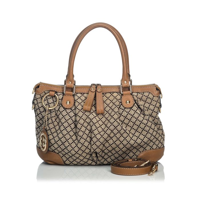 Gucci - Diamante Canvas Sukey Satchel Cartable