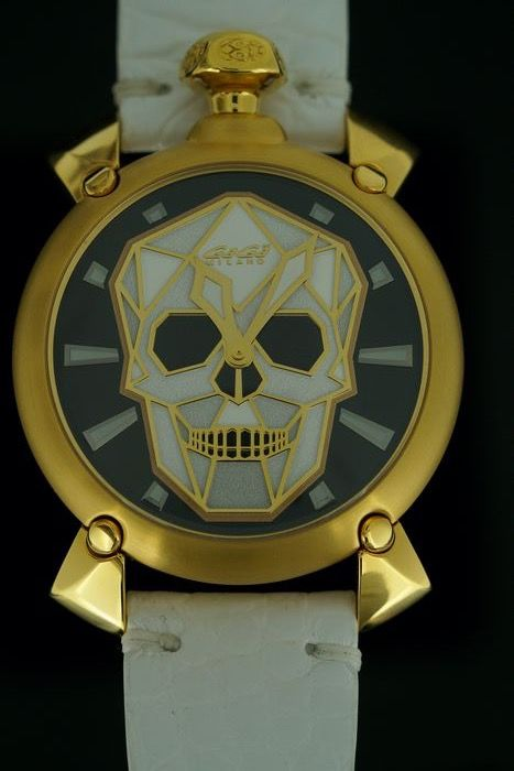 "GaGà Milano - Automatic 45mm Bionic Skull Yellow Gold White LIMITED EDITION - 6014.02 ""NO RESERVE PRICE"" - Unisex - BRAND NEW"