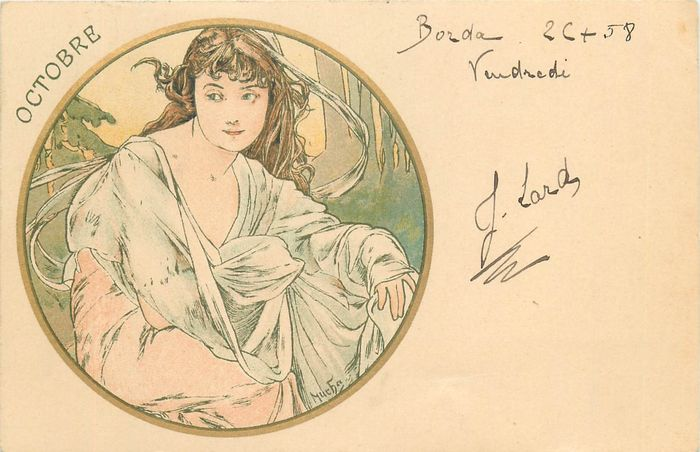France - Mucha - Alfons Mucha affichiste, illustrateur, graphiste, peintre, et professeur d'art tchèque - - Carte postale unique (Collection de 1) - 1903