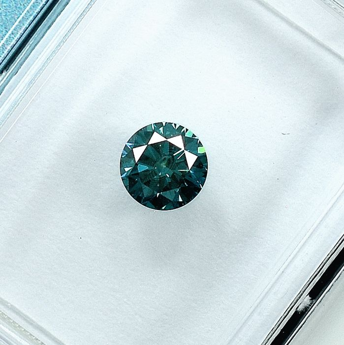 Diamante - 0.40 ct - Brillante - Fancy Intense Blue - SI1