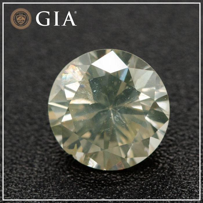 Diamante - 1.33 ct - Brilhante - S-T Range - I2, GIA - No Reserve Price