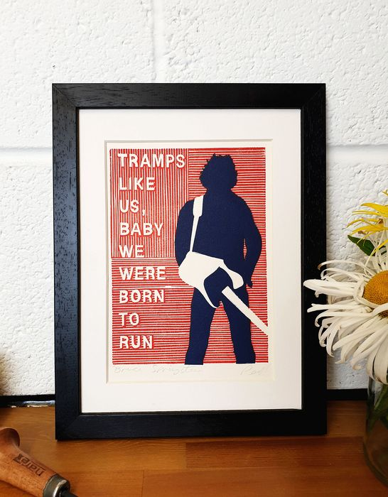Bruce Springsteen  - Tramps Like Us, Baby We Were Born To Run - Impressão artesanal original - 2018/2018