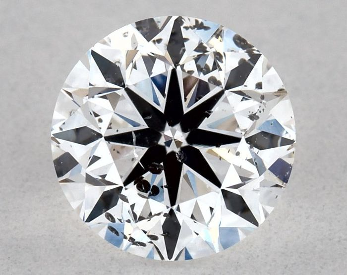 1 pcs Diamant - 0.70 ct - Rond - D (incolore) - SI2, IGI - 3VG - Low Reserve Price