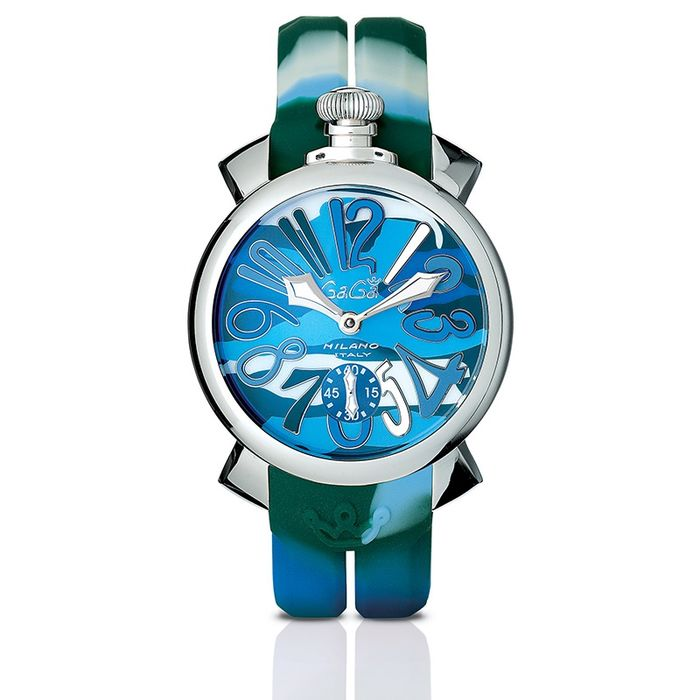 """GaGà Milano - Mechanical Watch Manuale 48MM Green Camouflage Steel - 5010 """"NO RESERVE PRICE"""" - Unisex - BRAND NEW"""