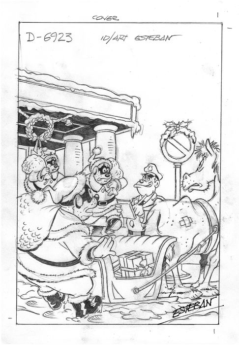 Beagle Boys - Original Comic Cover Sketch - Esteban - EO