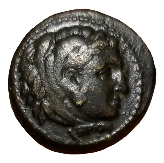 Grèce (ancienne) - Macedonian Kings. Æ (18mm, 5.57g), Alexander III 'the Great' (336-323 BC). Struck under Philip III. Miletos mint - Price 2102 - Bronze