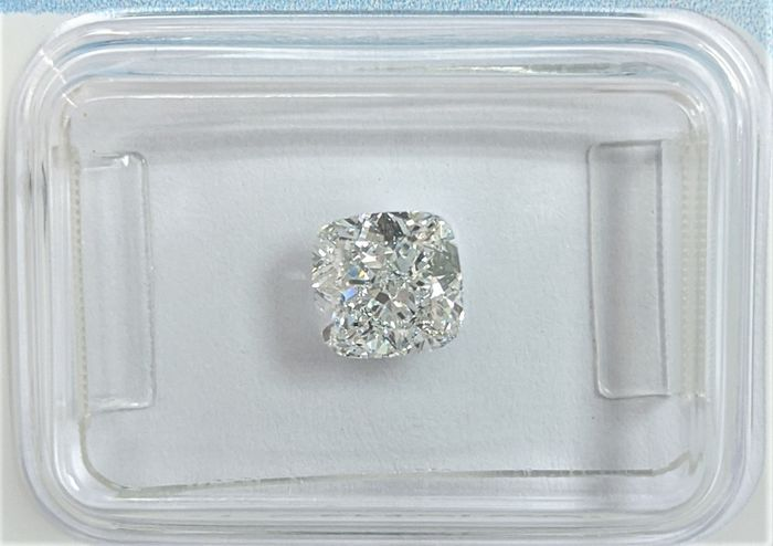 Diamond - 1.04 ct - Cushion - D (colourless) - VVS1, IGI Antwerp
