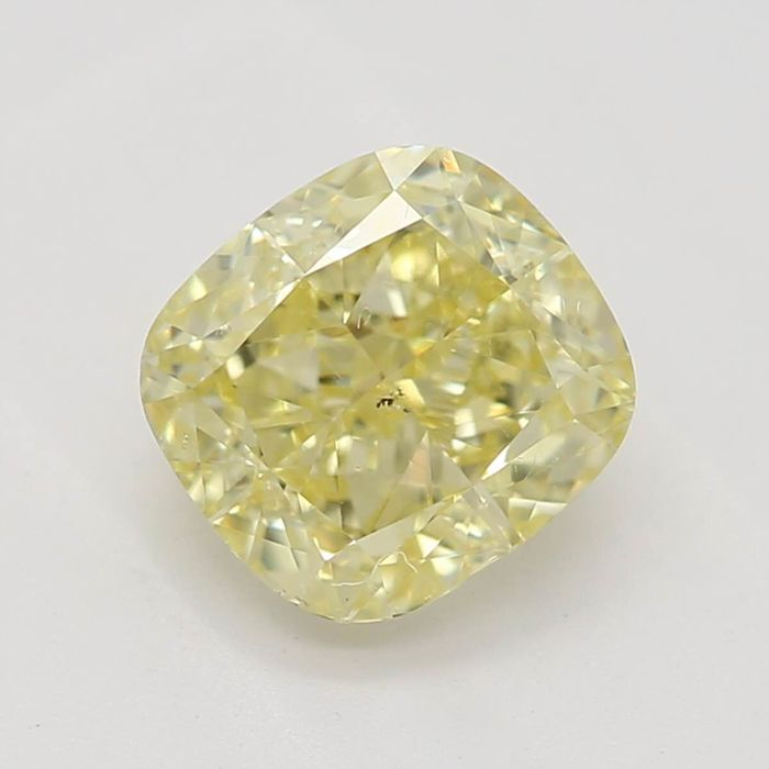 1 pcs Diamante - 0.61 ct - Almofada - fancy yellow - VS2