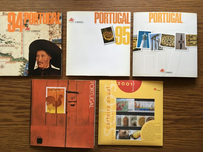 Portugal 1994/2001 - Complete years with proofs in black