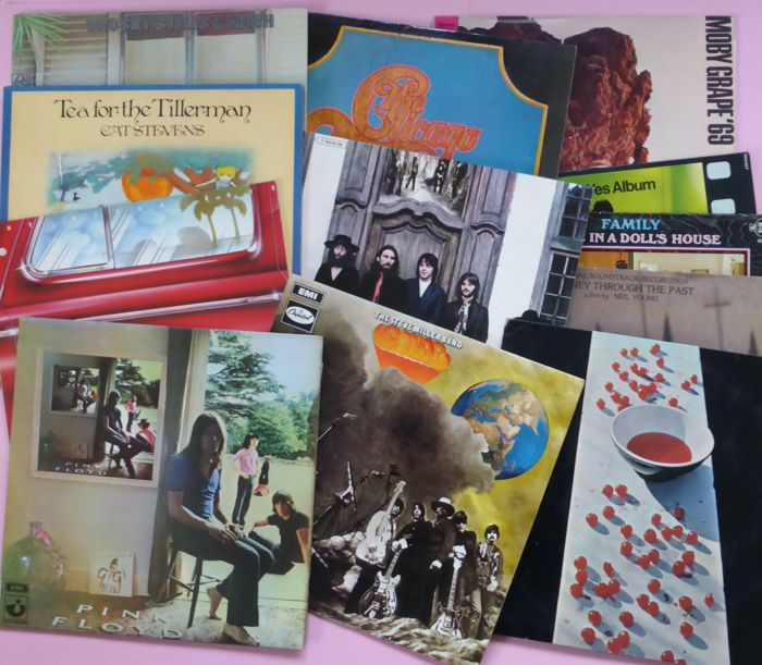 Set of 12 classic rock albums - Multiple artists - various great rock  albums, including some rare ones - Multiple titles - LP's - 1967/1980 -  Catawiki