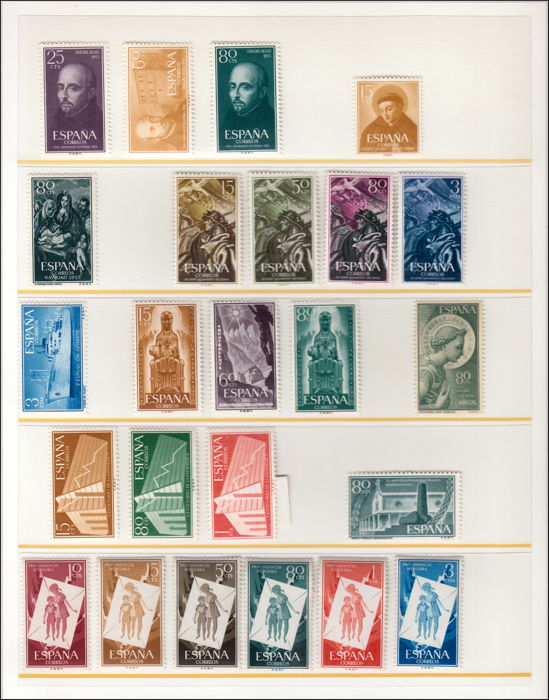 Spain 1946/1977 - Advanced collection of the period.