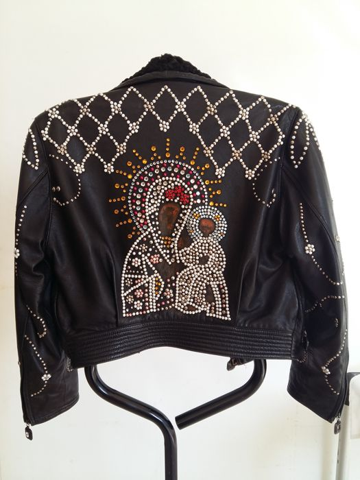 Versace - Leather jacket - Size: S