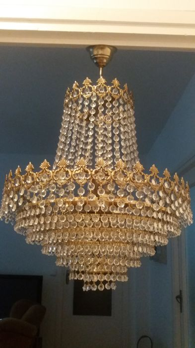 Unknown designer - Spectaculaire en elegante kroonluchterlamp (1)