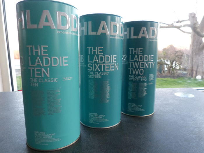 Bruichladdich Classic Laddie 10 years old, 16 years old & 22 years old - 0.7 Ltr - 3 bottles