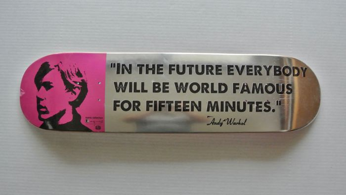 Andy Warhol X Alien Workshop - 15 Minutes of Fame Skateboard Deck