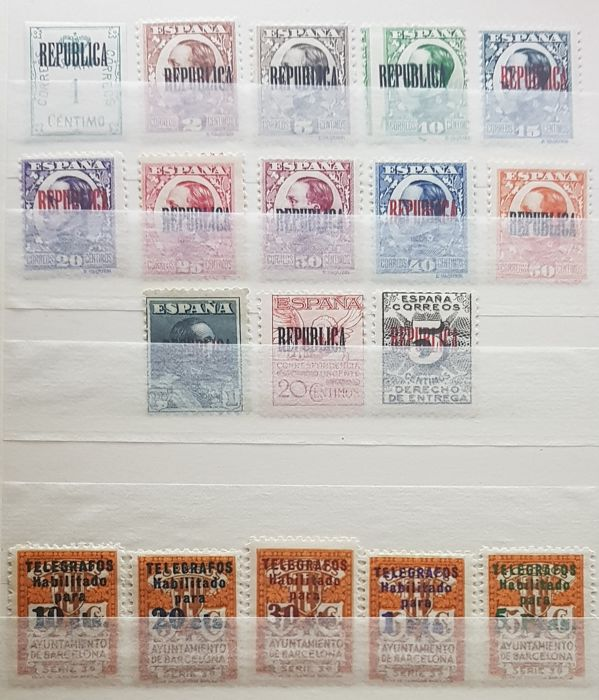 Spain - Local issues - Batch of stamps from Barcelona