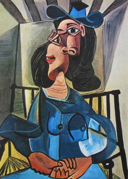 Pablo Picasso ( after ) - Woman with Hat in Armchair (Dora Maar)