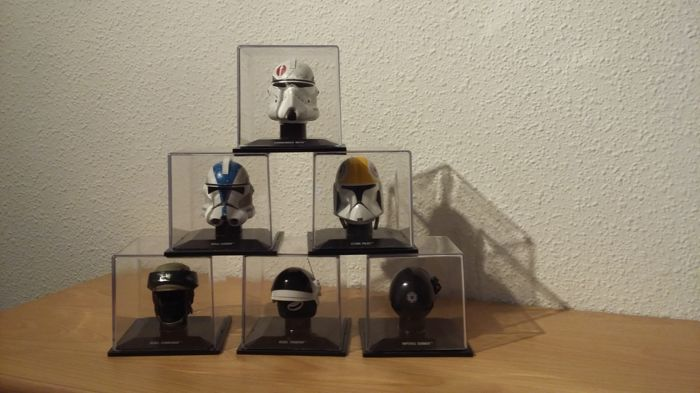 Star Wars - Deagostini - 6 x scaled helmets - 51 1st Legion, Clone Pilot, Rebel Commando, Commander Neyo